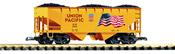 Flag Hopper Car w/Coal Load