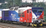 Czech Electric Locomotive 371 201-5 Flaggenloko of the CD