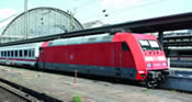 German Electric locomotive BR 101 of the DB AG (Sound)