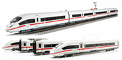 4pc German Electric multiple unit BR 412 ICE 4 of the DB AG (Sound)