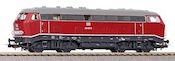German Diesel locomotive BR 216 of the DB (Sound)