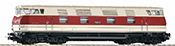 German Diesel Locomotive V 200 117 GFK of the DR - red/beige (DCC Sound Decoder)