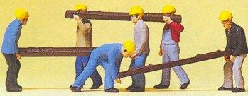 Preiser 10034 - Track workers w/ties   6/
