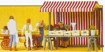 Preiser 10053 - Food vendors & carts set