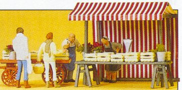 Preiser 10053 - Food vendors & carts set