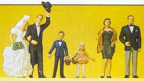 Preiser 10339 - Bride/groom/guests