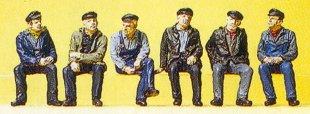 Preiser 10351 - Indstrl Passengrs sitting