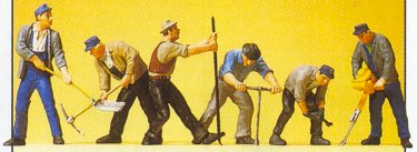 Preiser 10418 - Track workers w/tools  6/