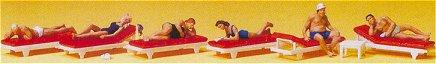 Preiser 10429 - Sunbathers on Lounges 6/