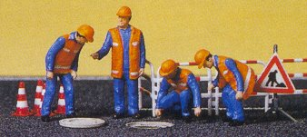 Preiser 10445 - City Workers w/Accssrs 4/