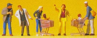 Preiser 10492 - Going Shopping w/Carts 5/