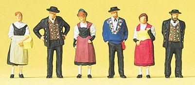 Preiser 10509 - Swiss National Costumes