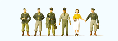 Preiser 10594 - US/NATO 1950s Figure Sets -- Soldiers pkg(6)