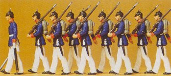 Preiser 12186 - Prussian infantry parade