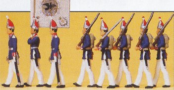 Preiser 12188 - 1800 guards/officer march