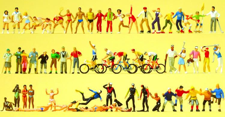 Preiser 13005 - Assort Sports Figures 60/