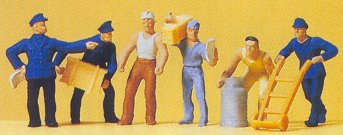 Preiser 14016 - Delivery men w/loads   6/