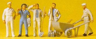 Preiser 14144 - Workmen w/accessories  6/
