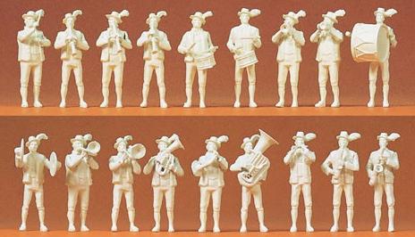 Preiser 16353 - Bavarian Band Unpntd 18/