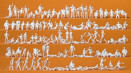 Preiser 16357 - Leisure time at the lake - 120 Unpainted Figures