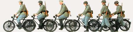 Preiser 16596 - Bicycle Unit 6/