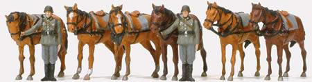 Preiser 16597 - Soldiers w/Horses
