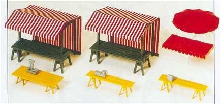 Preiser 17500 - Market stalls & sunshades