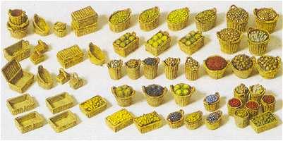 Preiser 17502 - Baskets fruit/vegetables