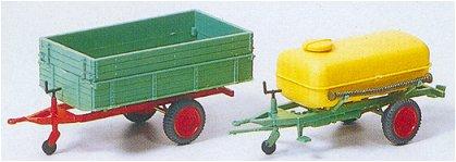 Preiser 17917 - 2-Trlrs w/pltfrm & barrel