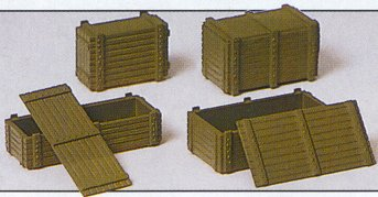 Preiser 18350 - Wooden supply crates