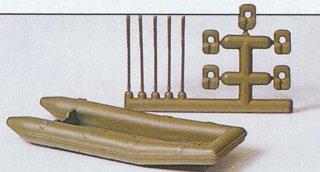 Preiser 18367 - Military raft w/oars