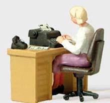Preiser 28094 - Secretary At Her Desk