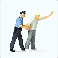 Preiser 28119 - Emergency Personnel -- Under Arrest, pkg(2)