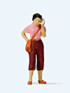 Preiser 28166 - Woman with mobile phone