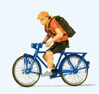 Preiser 28175 - Bicycle courier
