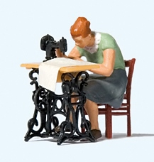 Preiser 28183 - Woman at sewing machine