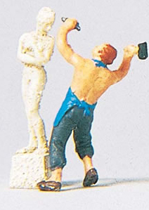 Preiser 29032 - Sculptor With Sculpture