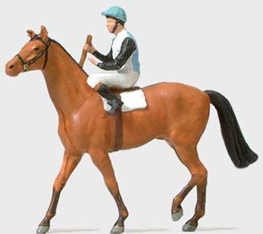 Preiser 29080 - Jockey On Horse