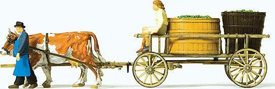 Preiser 30397 - Wine wagon, cows