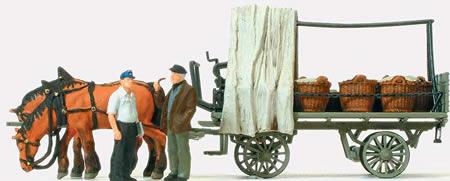 Preiser 30449 - Farm Wagon w/Load