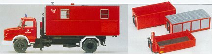 Preiser 31116 - MB Truck w/4 containers