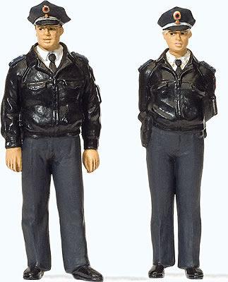 Preiser 44909 - Standing police officers in blue uniform