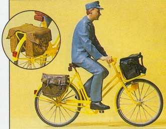 Preiser 45069 - Postman on a bicycle
