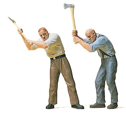 Preiser 45086 - Wood cutters w/axes    2/