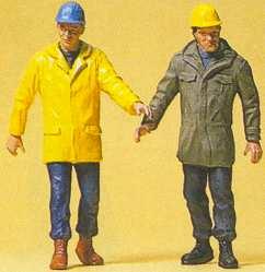 Preiser 45088 - Mdrn workmen walking   2/