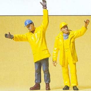 Preiser 45089 - Mdrn workmen signaling 2/