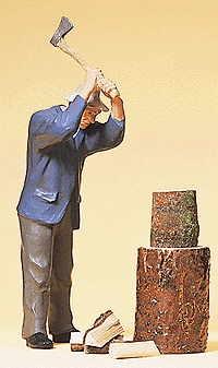 Preiser 45090 - Man Chopping Wood