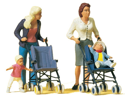 Preiser 45114 - Women/Children w/Stroller