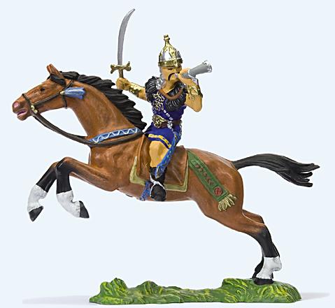 Preiser 50477 - Hunter on horseback with sword and horn
