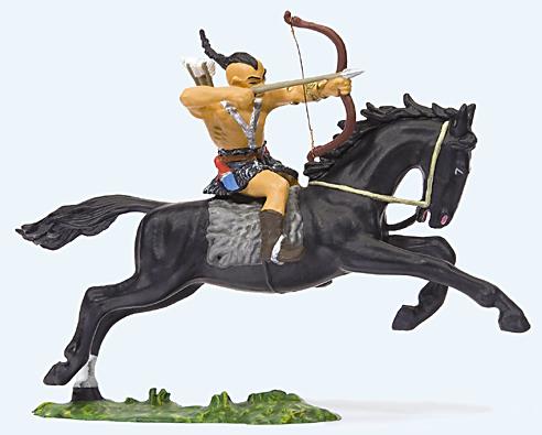 Preiser 50478 - Hunter on horseback drawing bow